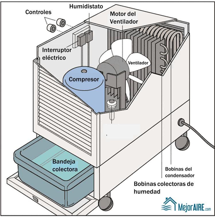 cómo reparar un deshumidificador